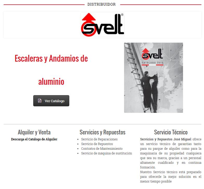 Alquiler maquinaria servicios y repuestos jose miguel for Escaleras y andamios