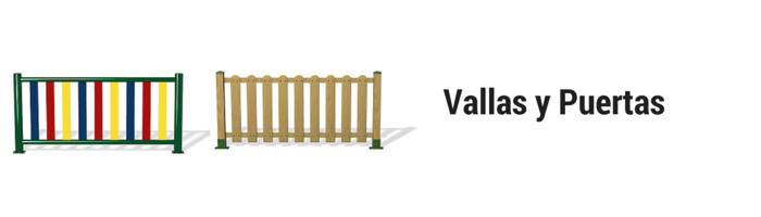 vallas y puertas parques infantiles