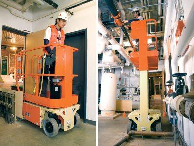 1230ES plataforma tijera mastil vertical especial mantenimiento